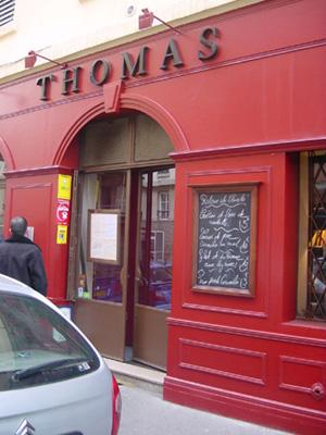 restaurant THOMAS - 6 rue Laurençin 69002 Lyon