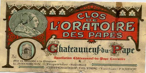 vin Clos de l'Oratoire des Papes Blanc 1985 - Châteauneuf du Pape - Léonce AMouroux