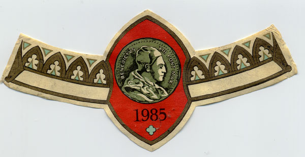 étiquette Clos de l'Oratoire 1985