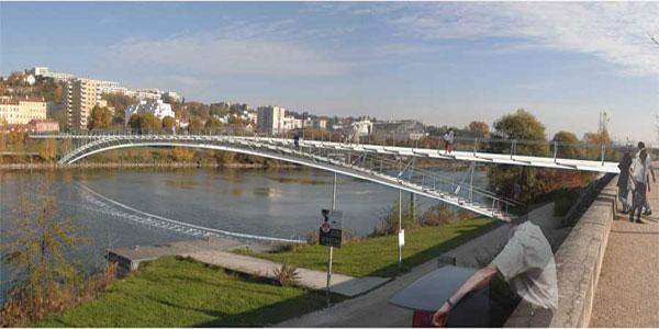 le futur projet de passerelle sur le Rhône