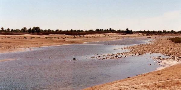 Maroc - Mhamid et le Draa qui se perd dans les sables