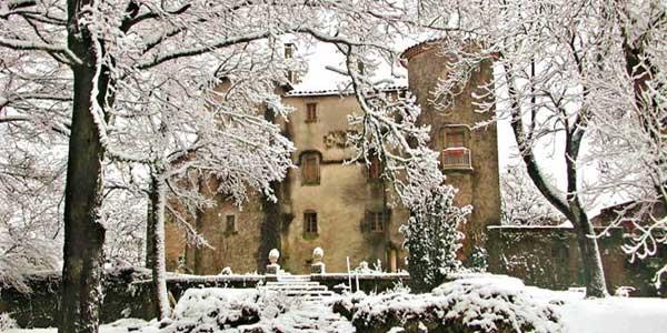 Château du Cros (Larzac) - hiver