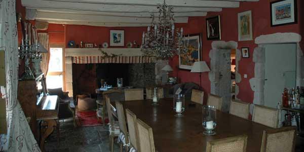 Château du Cros (Larzac) - la salle à manger