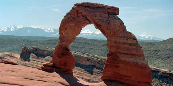 Delicate Arch symbole de l'Utah près de Loab
