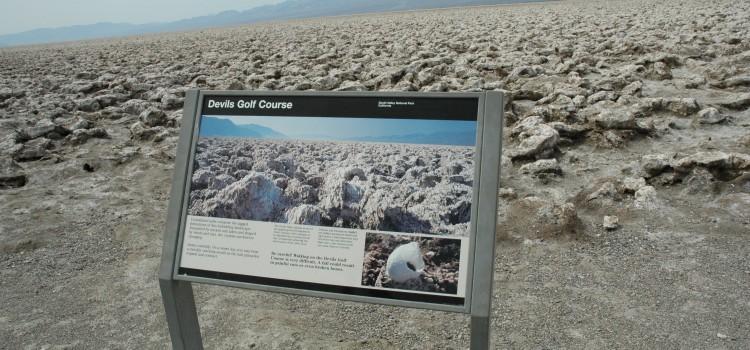 Vallée de la mort : le golf du diable (devil's golf)