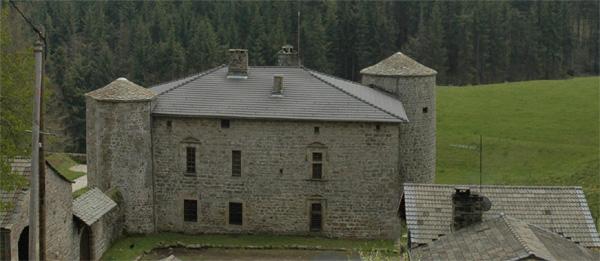 le manoir des beaumes - les tours rondes et les fenêtres xvième siècle