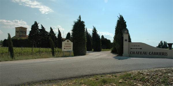 Châteauneuf du Pape - Entrée du Château Cabrières