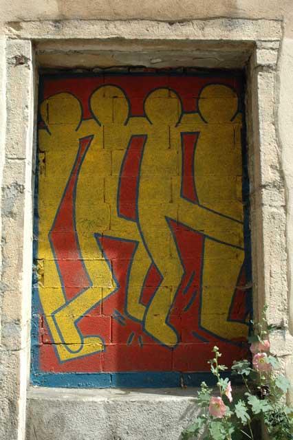 architecture graffiti lyon - rue Chalopin (Guillotière)
