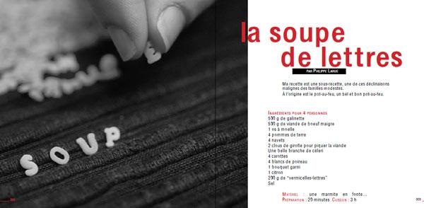 edition la belle ecriture - petits soupers entre amis - la soupe de lettres