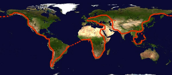 Carte du projet de Tour du monde