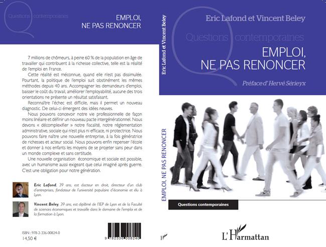 Eric Lafond et Vincent Beley - Ne pas Renoncer - L'Harmattan