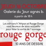 Christine CROZAT - Collection ROUGE GORGE chez HARTPON