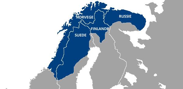 Carte de la Laponie