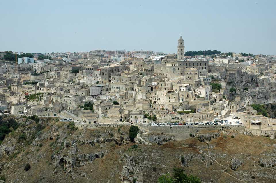 italie-pouilles noci plan d'acces aux églises rupestres de Matera