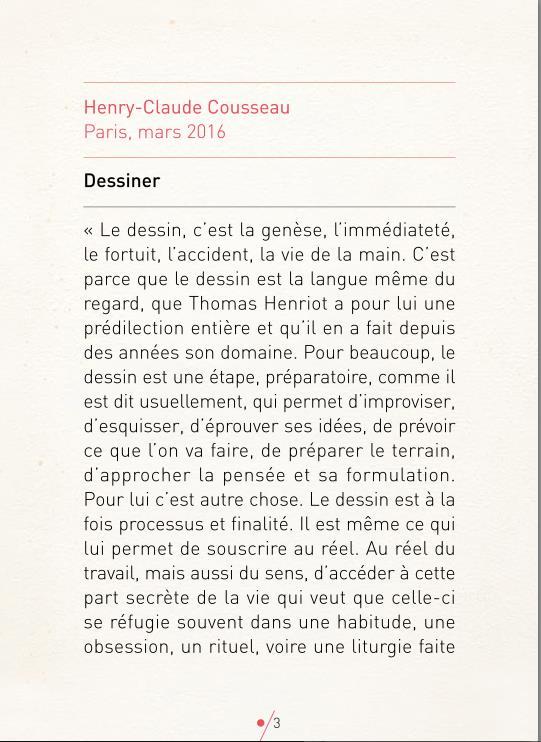 Entretien de Thomas Henriot avec Henry-Claude Cousseau, Galerie Céline Moine.