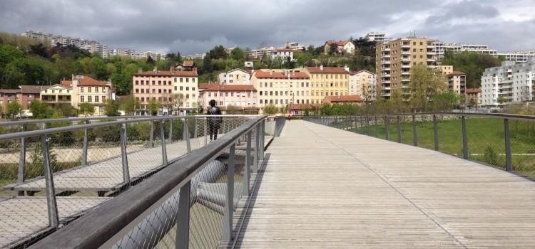 Une nouvelle passerelle sur le Rhône à Lyon en 2011