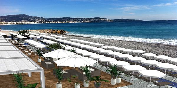 Radisson Blue Hotel Nice - le projet de plage privée