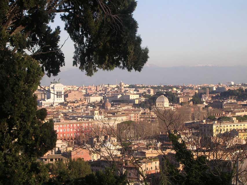 Italie Rome - le quartier du Janicule