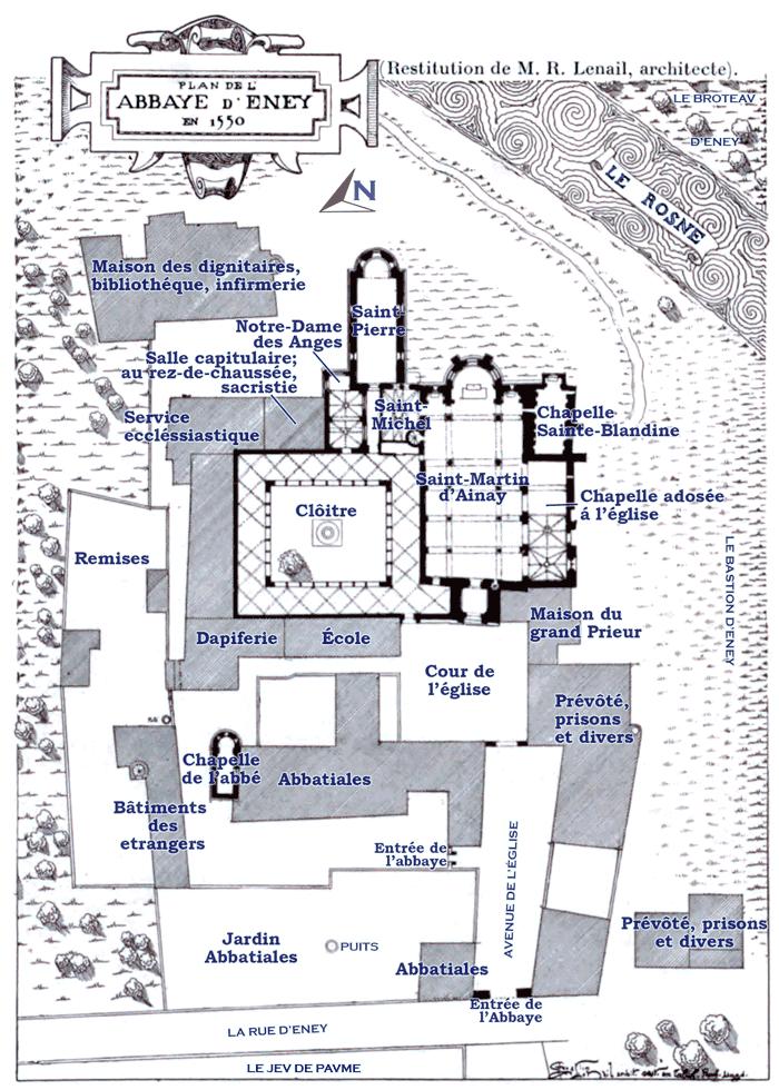 Plan_de_l'Abbaye_d'Eney_en_1550