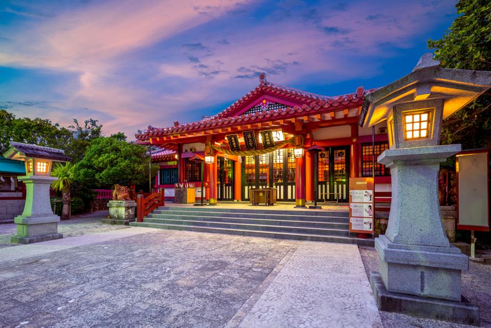 circuit Japon - le temple de naminoue-gu à Naha