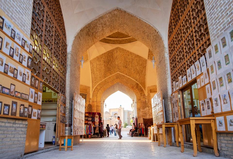 Les coupoles marchandes  en ouzbekistan