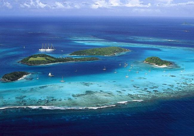Jean Gaches - Skipper aux Grenadines : barriere de corail