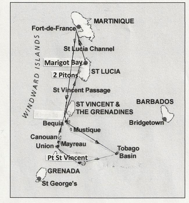 jean-gaches - Circuit aux Grenadines : Le circuit dans les Grenadines